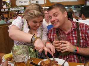 Chicken & Beer at Oktoberfest